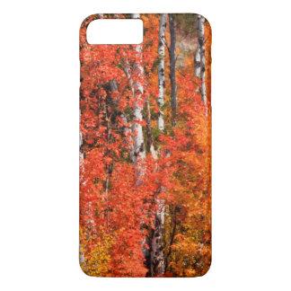 Arce rojo (Acer Rubra) y álamos tembloses Funda iPhone 7 Plus