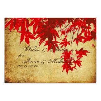Arce rojo del vintage de PixDezines, tarjetas del  Plantilla De Tarjeta De Negocio