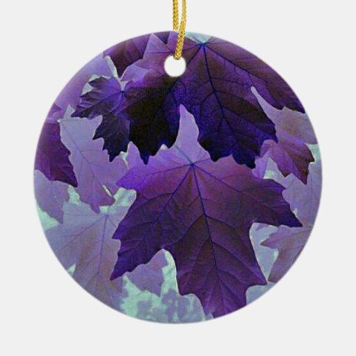 arce violeta adorno navideño redondo de cerámica