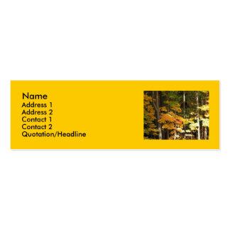 Arces de oro del otoño tarjetas personales