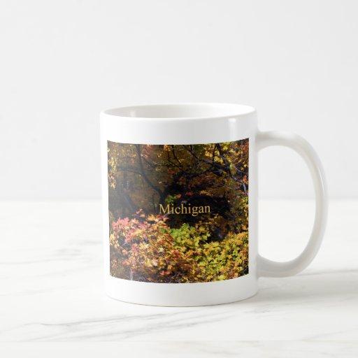 Arces del otoño de Michigan Tazas De Café