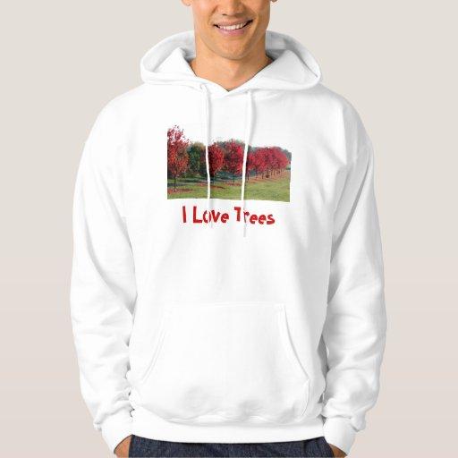 Arces, yo árboles de amor jersey con capucha