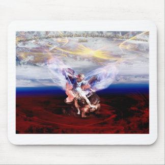 Arch Angel Michael Conquers Mousepad