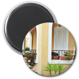 Arch Barrel Of Holiday House In Greece Refrigerator Magnets