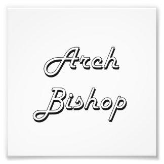 Arch Bishop Classic Job Design Photo Print