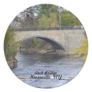 Arch Bridge-Keeseville, NY Melamine Plate