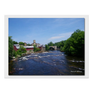 Arch Bridge -Keeseville, NY Posters