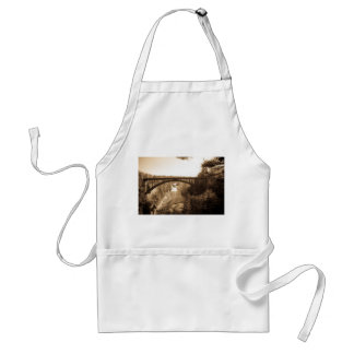 Arch Bridge over Ausable Chasm in Sepia Adult Apron