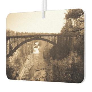 Arch Bridge over Ausable Chasm Sepia Air Freshener