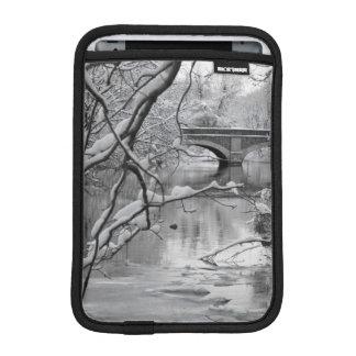 Arch Bridge over Frozen River in Winter iPad Mini Sleeve