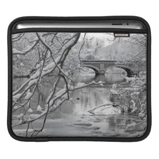 Arch Bridge over Frozen River in Winter Sleeve For iPads