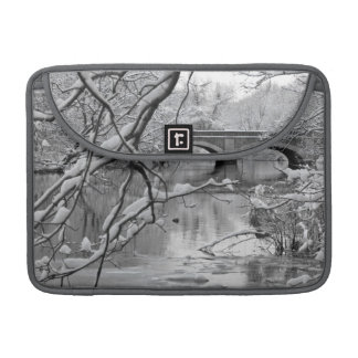 Arch Bridge over Frozen River in Winter Sleeve For MacBook Pro