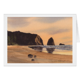 Arch Cape Sunset Card
