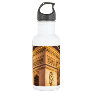 arch de triomphe en París, Francia en la noche