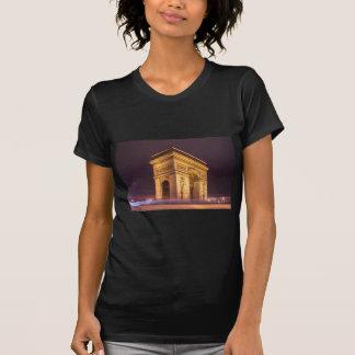 arch de triomphe en París, Francia en la noche Camisetas