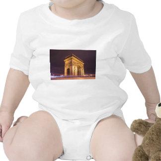 arch de triomphe en París Francia en la noche Traje De Bebé