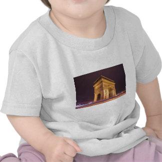 arch de triomphe en París Francia en la noche Camisetas