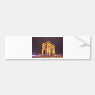 arch de triomphe in paris, france at night car bumper sticker