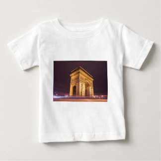 arch de triomphe in paris, france at night t shirt