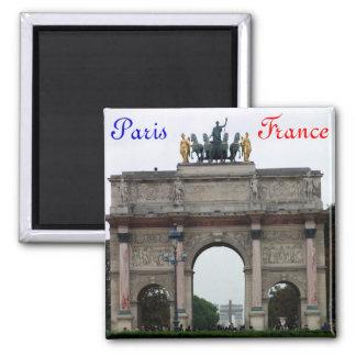 Arch in Paris 2 Inch Square Magnet