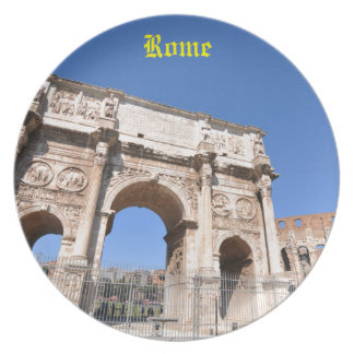 Arch in Rome, Italy Dinner Plate