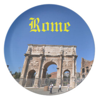 Arch in Rome, Italy Plate