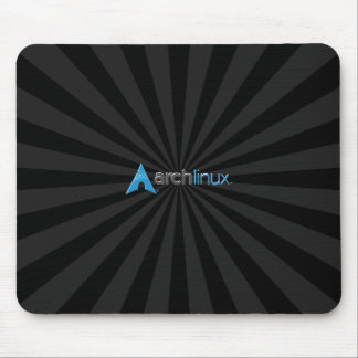 Arch Linux cool Black Starburst Mouse Pad
