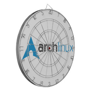 Arch Linux Logo Dartboard With Darts