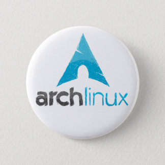 Arch Linux Logo Pinback Button
