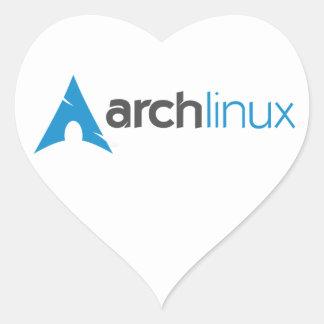 Arch Linux Logo Heart Sticker