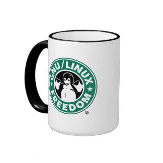Arch linux/ÑU freedom mug Taza A Dos Colores