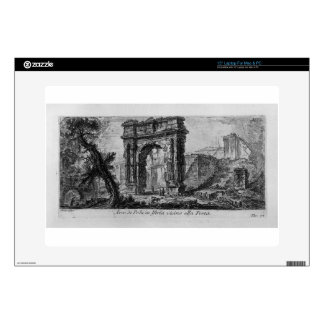 """Arch of Augustus, manufactured by Rimini by Giovan 15"""" Laptop Skin"""