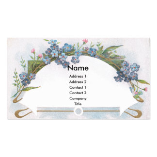 Arch of Blue Forget-Me-Nots Double-Sided Standard Business Cards (Pack Of 100)