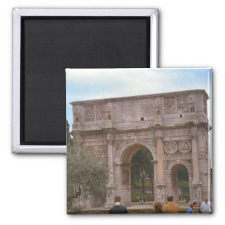 Arch of Constantine, Rome 2 Inch Square Magnet