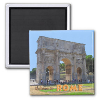 Arch of Constantine Rome 2 Inch Square Magnet