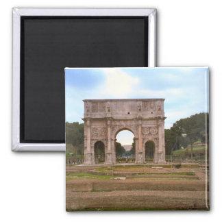 Arch of Emperor Constantine, Rome 2 Inch Square Magnet