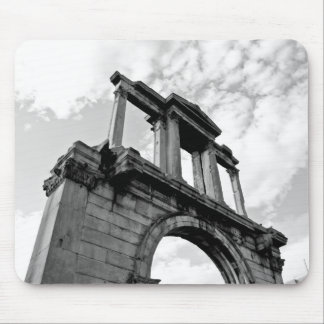 Arch of Hadrian Black and White Photo Mousepad