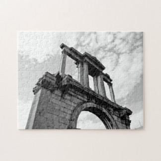 Arch of Hadrian Black and White Puzzle