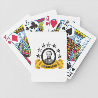 arch of sherman cw bicycle playing cards