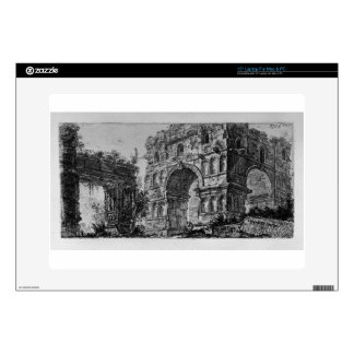 """Arch of Titus in Rome by Giovanni Battista Piranes Decal For 15"""" Laptop"""