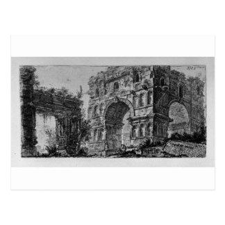 Arch of Titus in Rome by Giovanni Battista Piranes Postcard