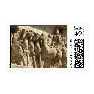 Arch of Titus in Rome postage stamp