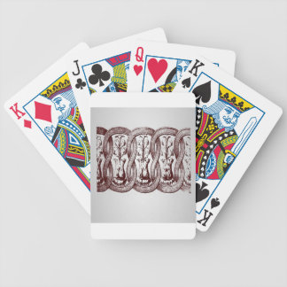 Arch ornament element design playing cards