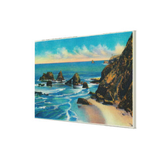 Arch Rock from Maxwell Point, OceansideCoast Stretched Canvas Prints