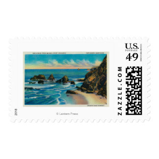 Arch Rock from Maxwell Point, OceansideCoast Postage Stamp