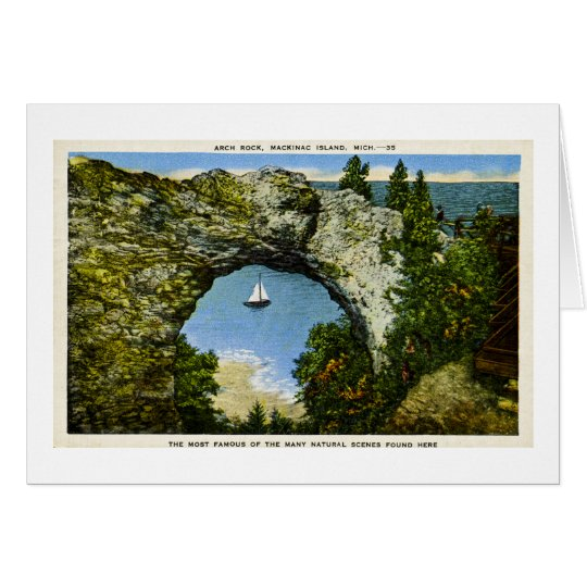 Arch Rock Mackinac Island, Michigan Card