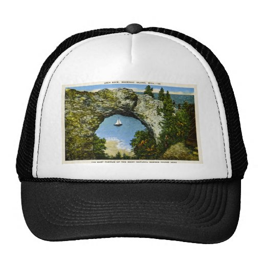 Arch Rock Mackinac Island, Michigan Hats