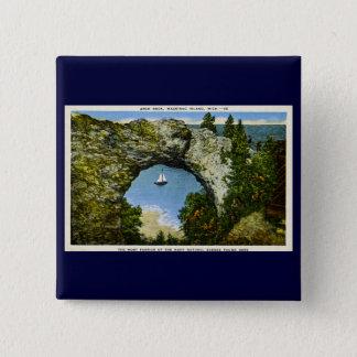 Arch Rock Mackinac Island, Michigan Pinback Button