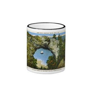 Arch Rock Mackinac Island, Michigan Ringer Coffee Mug