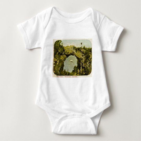 Arch Rock, Mackinac Island Vintage Baby Bodysuit